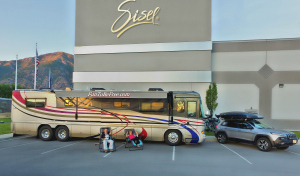 Our Motor Coach & Jeep at Sisel